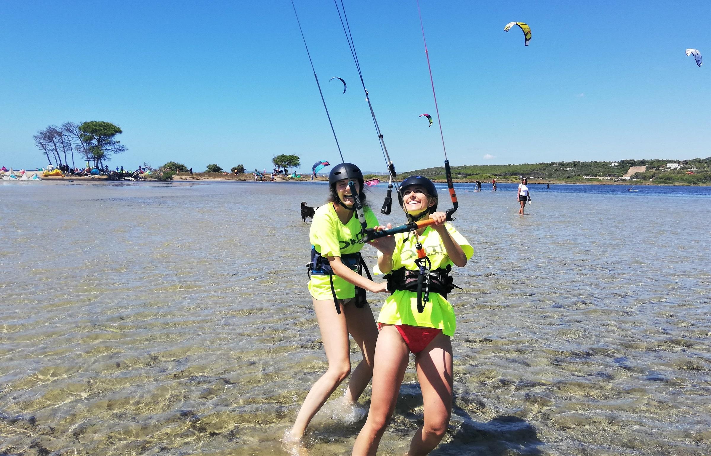 Kite course in Punta Trettu sardinia
