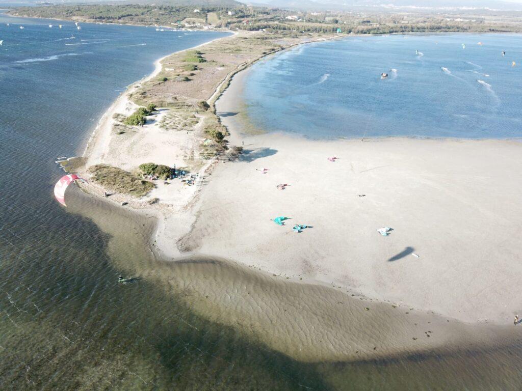 Der Kite-Spot von Punta Trettu gilt als der beste Kite-Spot auf Sardinien